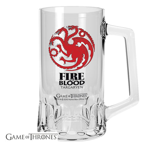 Game of Thrones House Targaryen Glass Beer Tankard  | Happy Piranha