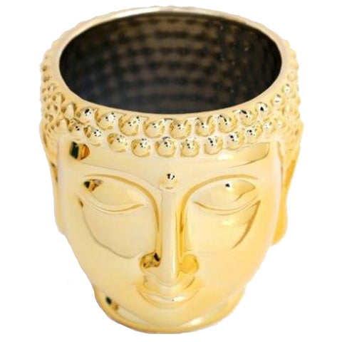 Gold Buddha Head Pot & Planter (Large) | Happy Piranha
