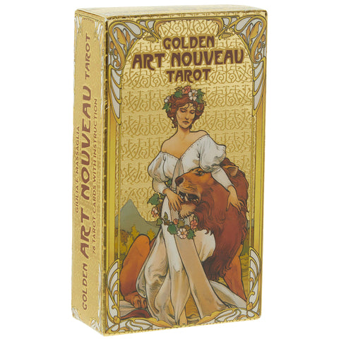 Golden Art Nouveau Gold Foil Tarot Set | Happy Piranha
