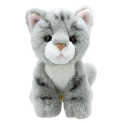 Grey Tabby Cat Mini Soft Toy | Happy Piranha