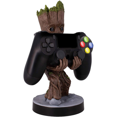 Marvel Avengers Baby Groot Cable Guy Phone and Controller Holder Holding a PlayStation Controller | Happy Piranha