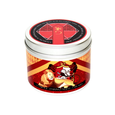 Courage a Gryffindor inspired scented candle by Happy Piranha.