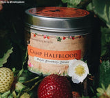 Camp Halfblood Percy Jackson inspired scented candle with strawberry