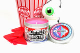 Little Monster bubblegum scented candle by Happy Piranha.