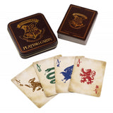 Hogwarts Playing Cards tin and card designs