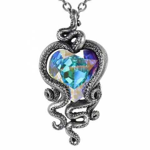 Heart of Cthulhu: Pewter and Swarovski Crystal Pendant | Happy Piranha