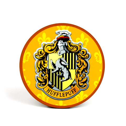 Hufflepuff Hogwarts House Harry Potter Coaster | Happy Piranha