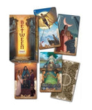 In Between Tarot 78 Card Deck Box and Card Example | Happy Piranha
