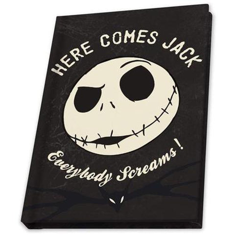 Here Comes Jack Glow In The Dark Skull A6 Notebook | Happy Piranha
