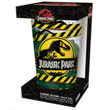 Large Jurassic Park High Voltage Drinking Glass in Packaging | Happy Piranha