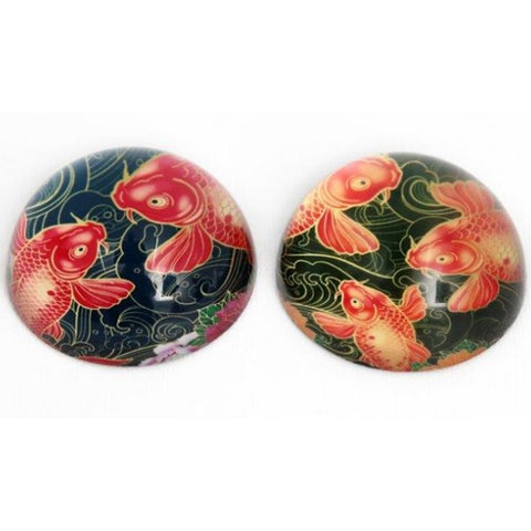 Koi Carp Fish Glass Paperweights | Happy Piranha