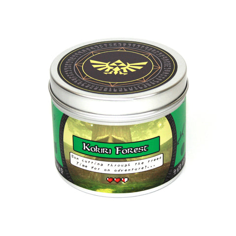 Kokiri forest zelda inspired scented candle by Happy Piranha