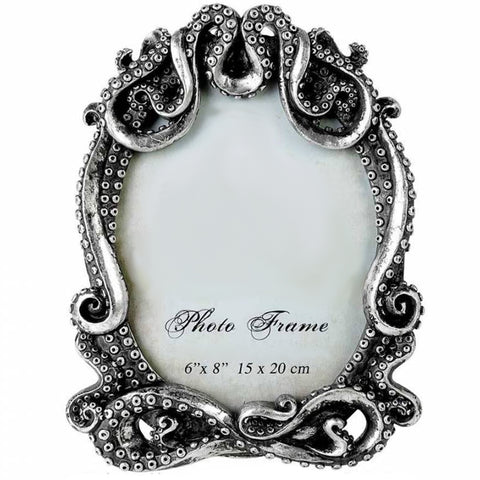 Kraken Photo Frame: Antiqued Silver | Happy Piranha
