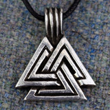 Large Valknut Pewter Viking Pendant | Happy Piranha