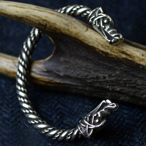 Large Wolf: Pewter Viking Bracelet | Happy Piranha