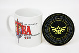 Happy Piranha's the legend of tea mug and coaster set.