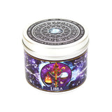 Libra zodiac star sign scented candle by Happy Piranha.