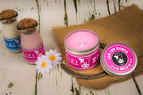 Legend of zelda inspired lon lon pink candle by Happy Piranha