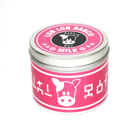 Lon lon ranch pink scented candle by Happy Piranha, inspired by Zelda