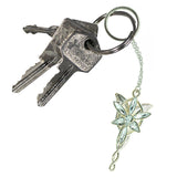 Arwen's Evenstar Lord Of The Rings Keychain on a set of keys | Happy Piranha