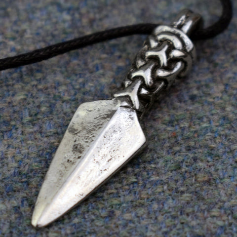 Manx Gungnir Odin's Spear Pewter Viking Pendant | Happy Piranha