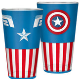 Large Marvel Captain America Glass Front and Back Design | Happy Piranha