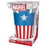 Large Marvel Captain America Glass in its Packaging | Happy Piranha