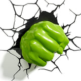 Marvel Hulk Fist 3D Wall Light | Happy Piranha