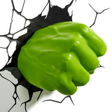 Marvel Hulk Fist 3D Wall Light Side View | Happy Piranha
