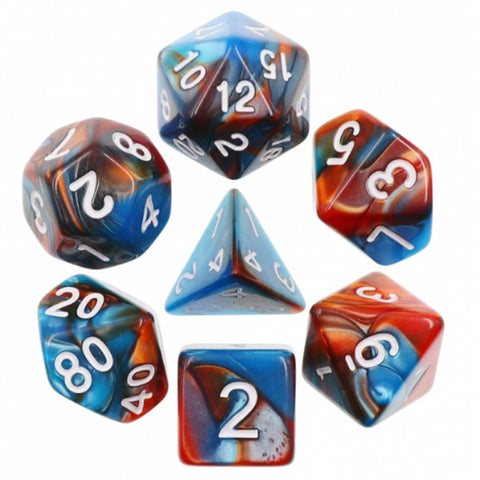 Metallic Blend Poly Dice Sets