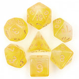 Yellow Milky Poly Dice Set | Happy Piranha