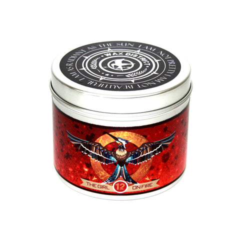 The Girl on Fire: Hunger Games Mockingjay Inspired Scented Candle