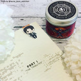 Girl on Fire Hunger Games Mockingjay inspired scented candle.
