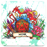 Dungeons and Dragons (DnD) Class Coaster (Monker)  | Happy Piranha