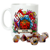 Dungeons and Dragons (DnD) Customisable Class (Monk) Dice Mug | Happy Piranha