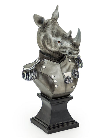 Monochrome Gentry Rhino Bust | Happy Piranha