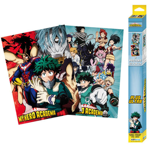 My Hero Academia Art Poster 2 Set | Happy Piranha
