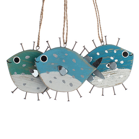 Nailed Pufferfish Hanging Decoration | Happy Piranha