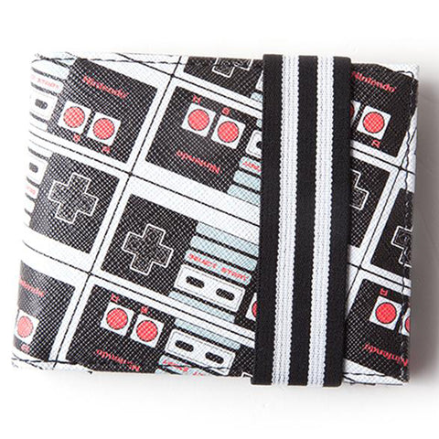 Nintendo Entertainment System (NES) Controller Strapped Bifold Wallet | Happy Piranha