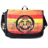 Nintendo Super Mario Retro Striped Messenger Bag | Happy Piranha