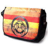 Nintendo Super Mario Retro Striped Messenger Bag Side Profile | Happy Piranha