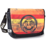 Nintendo Super Mario Retro Striped Messenger Bag Front Design | Happy Piranha