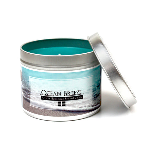 Cornish Ocean Breeze scented candle | Happy Piranha