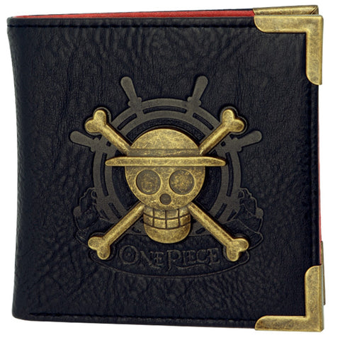 Premium One Piece Skull and Crossbones Bifold Wallet | Happy Piranha