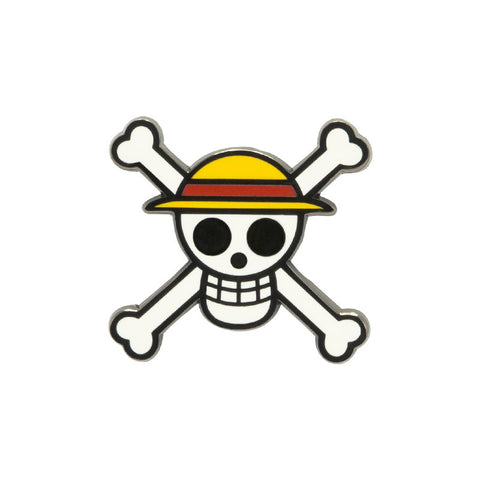 One Piece Skull And Cross Bone Pin Badge | Happy Piranha