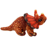 Orange Triceratops Dinosaur Finger Puppet | Happy Piranha