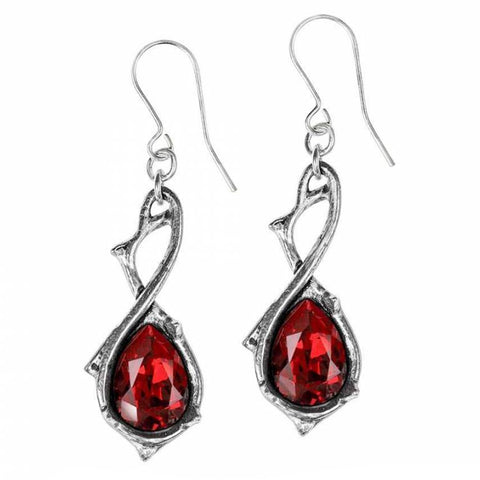 Passionette: Pewter and Swarovski Crystal Dropper Earrings | Happy Piranha