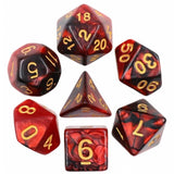 Pearl Poly Dice Set (Red and Black) | Happy Piranha