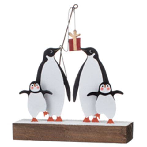 Penguins Fishing for Gifts: Christmas Decoration | Happy Piranha