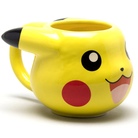 Pikachu Face 3D Pokémon Mug (Front View) | Happy Piranha